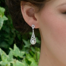Fontaine bridal necklace and earring set Lily Houston Design close up