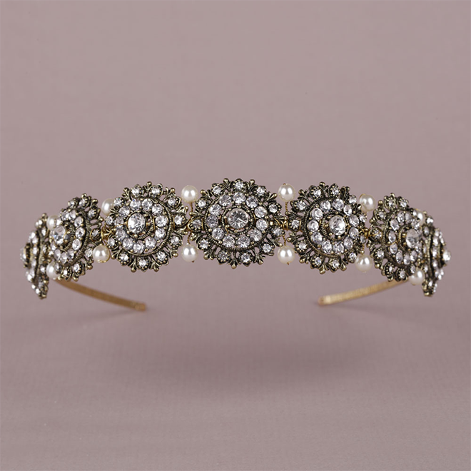 Hargreave wedding headband by Miranda Templeton at lily houston design product image