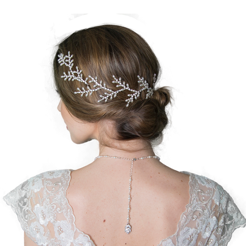 Haseley bridal hair vine by miranda templeton