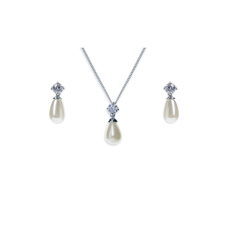 Imperial Pearl necklace and earring set