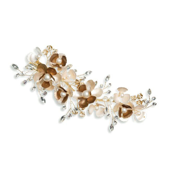 Cappuccino Blossom floral hair clip