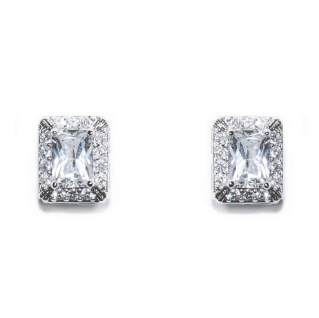 Art Deco crystal bridal earrings