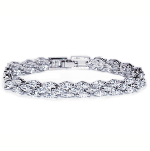 Lincoln Art Deco crystal bracelet