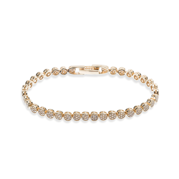 Modena Gold and crystal bracelet