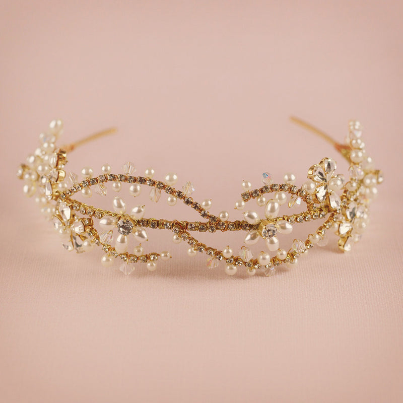 Montgomery wedding headband by Miranda Templeton close up