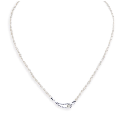 Paloma pearl and crystal necklace