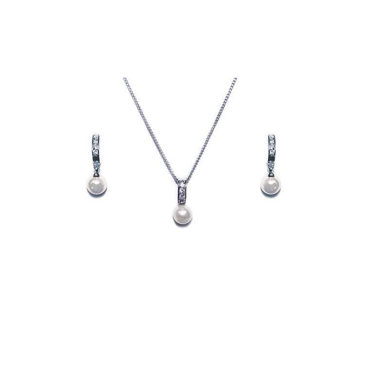 Pearl Starlight necklace and earring set