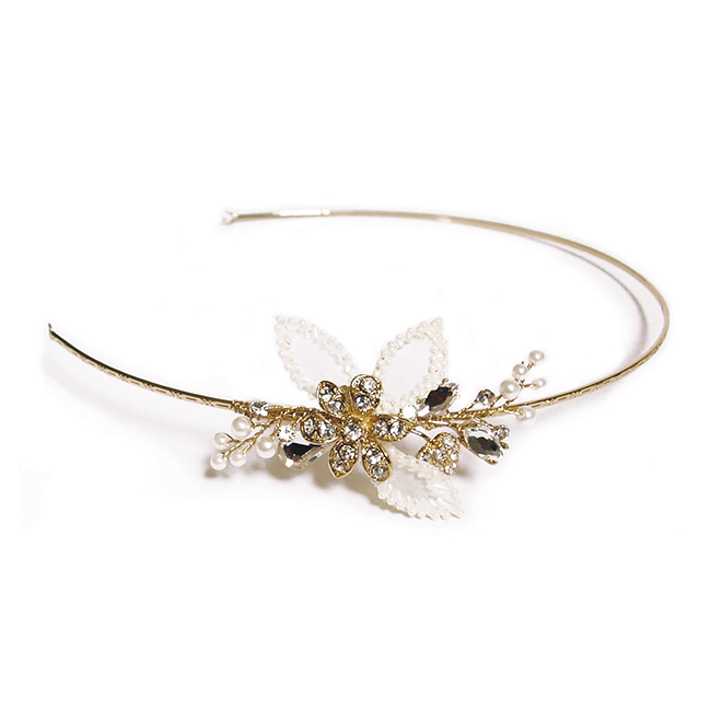 Pippa gold flower side headband