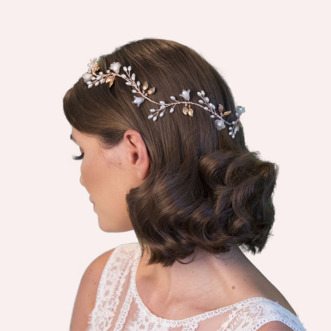 Reedham wedding hair vine