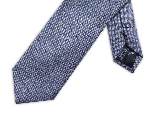 Wool necktie - Speckled effect Light Blue