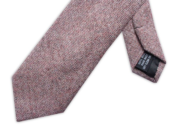 Wool tie at lily houston design - Speckled effect Soft Pink product image