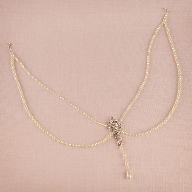 Statham wedding back necklace at lily houston design product image
