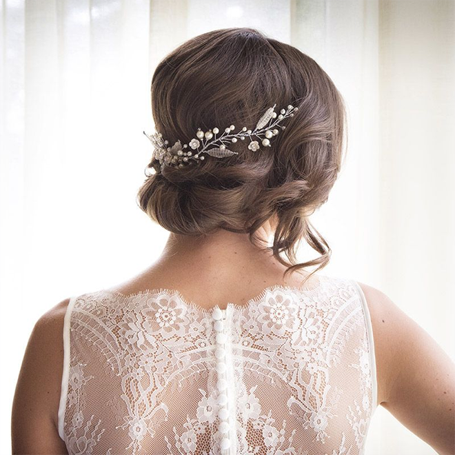 Sudeley pearl and flower bridal hair vine