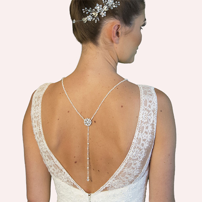 Tatlock backdrop necklace and earring set