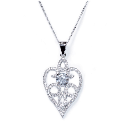 Amore crystal heart pendant necklace