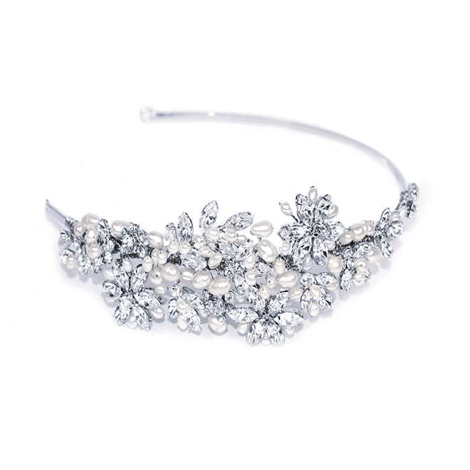 Dior pearl and crystal bridal side headband