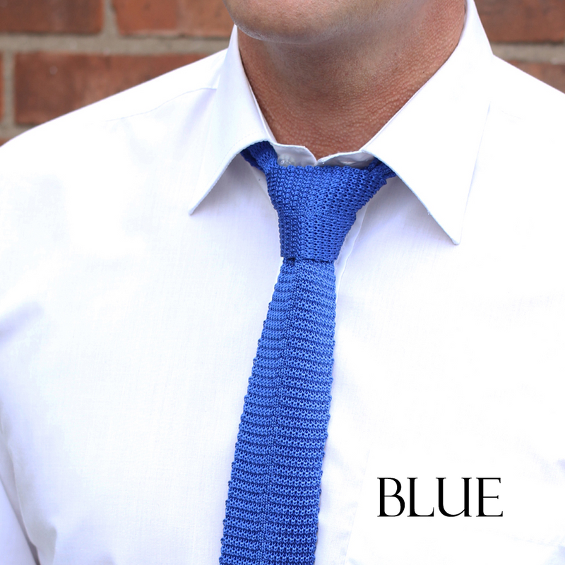 Silk knitted tie - various colours available