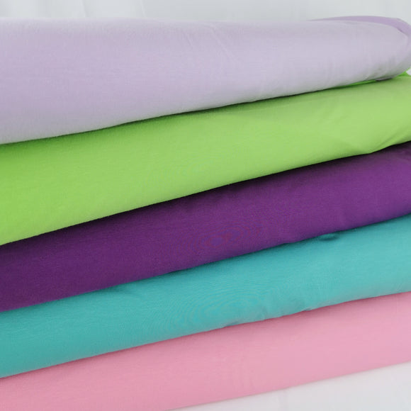 Plain coloured jersey - Cotton elastane