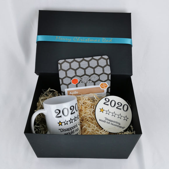 Mini coffee gift box with personalised ribbon- 2020 version