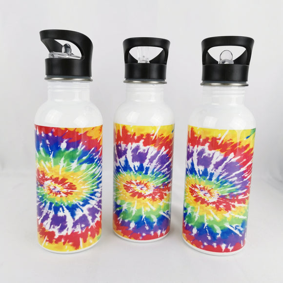 Stainless steel drinking bottles with straw