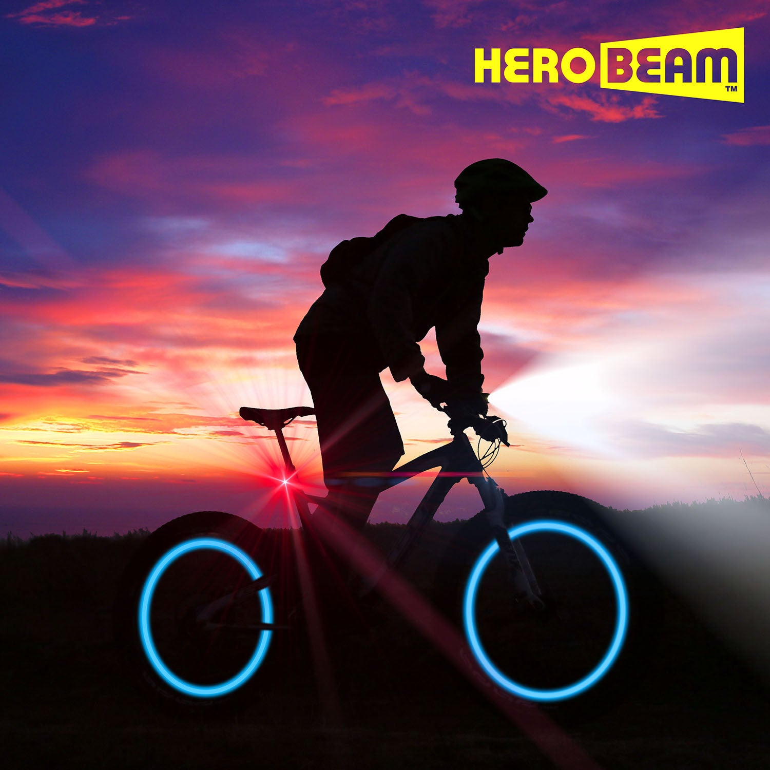 HeroBeam® Double Bike Lights Set