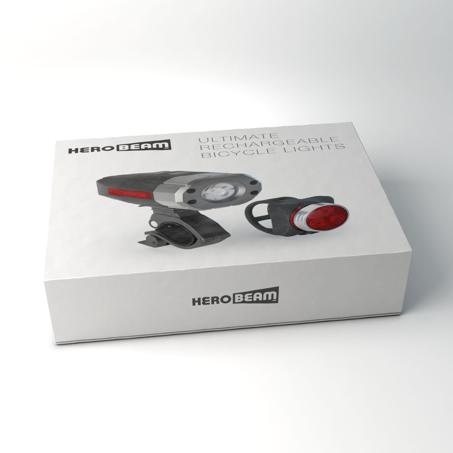 HeroBeam® Rechargeable Bike Lights Set