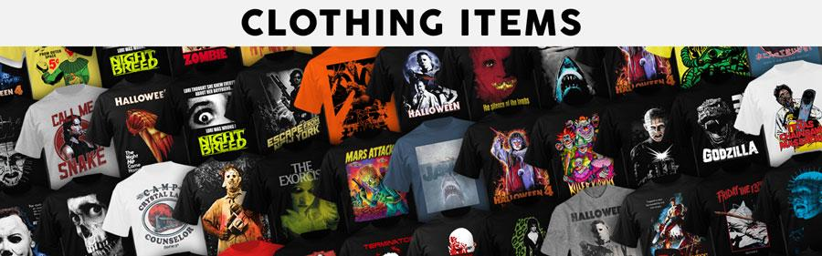 Officially Licensed Clothing Items