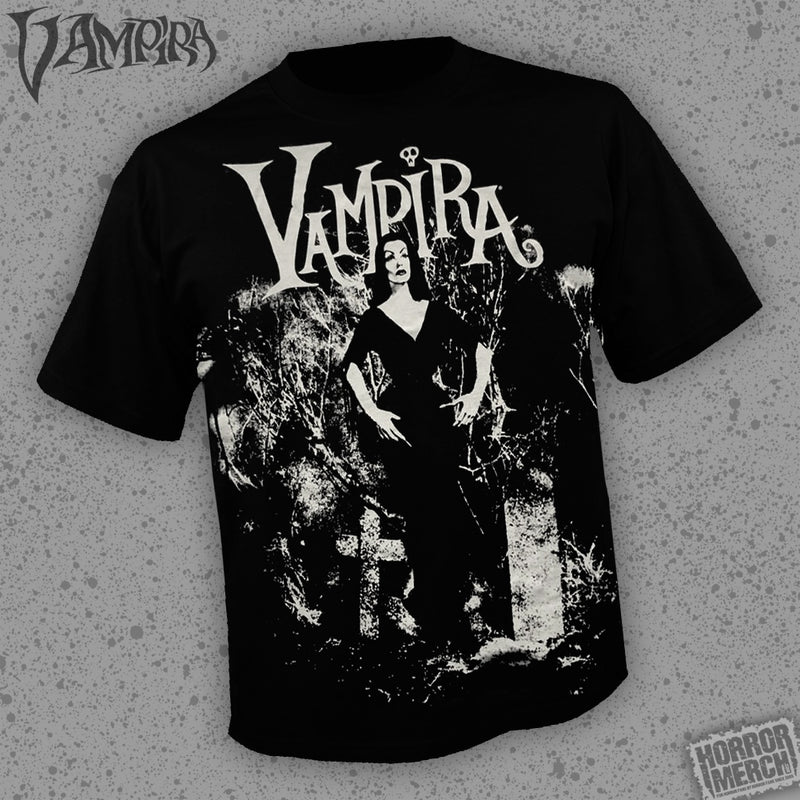 Vampira - Graveyard (All Over Front Print) [Mens Shirt]