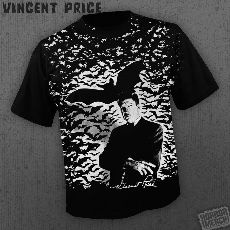 Vincent Price - Bats (All Over Front Print) [Mens Shirt] - Pre-Order