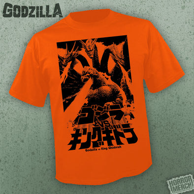 Godzilla - Fire (Orange) [Guys Shirt] - Pre-Order