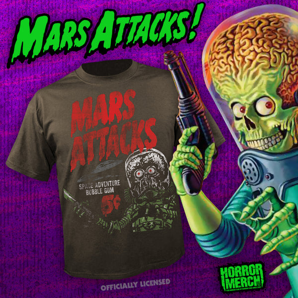 Mars Attacks - Trading Cards (Gray) [Mens Shirt] - Pre-Order
