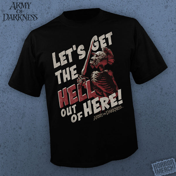 Army Of Darkness -  Get Out [Mens Shirt] - Pre-Order