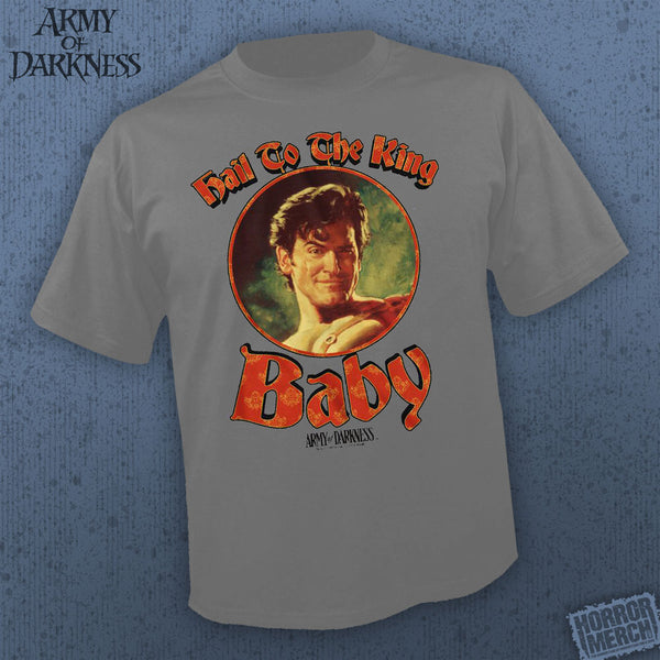 Army Of Darkness -  Hail To The King (Gray) [Mens Shirt] - Pre-Order