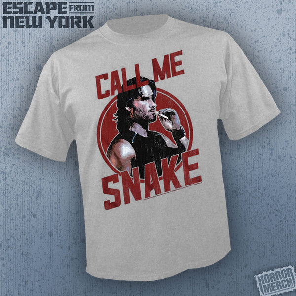 Escape From New York - Call Me Snake (Gray) [Mens Shirt]