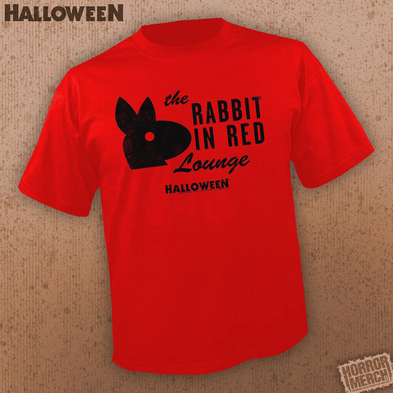 Halloween - Rabbit In Red Lounge (Red) [Mens Shirt] - Pre-Order