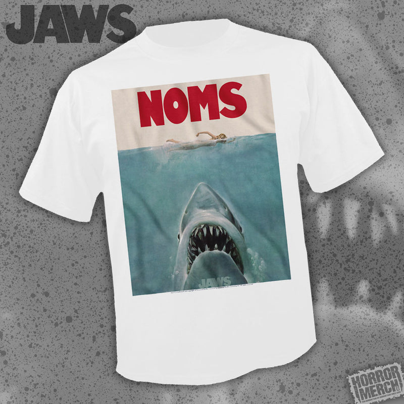 Jaws - Noms (White) [Mens Shirt] - Pre-Order