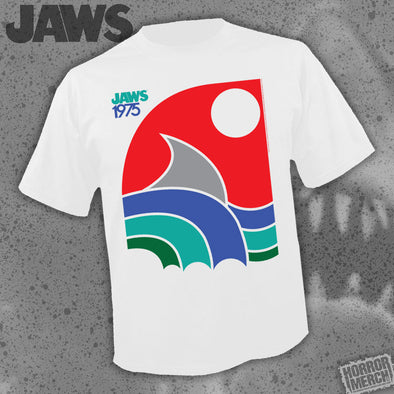 Jaws - 1975 (White) [Guys Shirt]