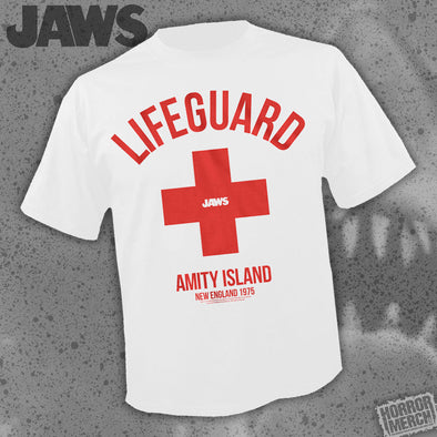 Jaws - Lifeguard (White) [Guys Shirt]