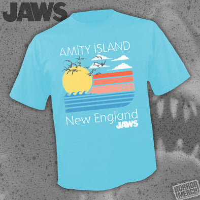 Jaws - Amity Island (Blue) [Guys Shirt]