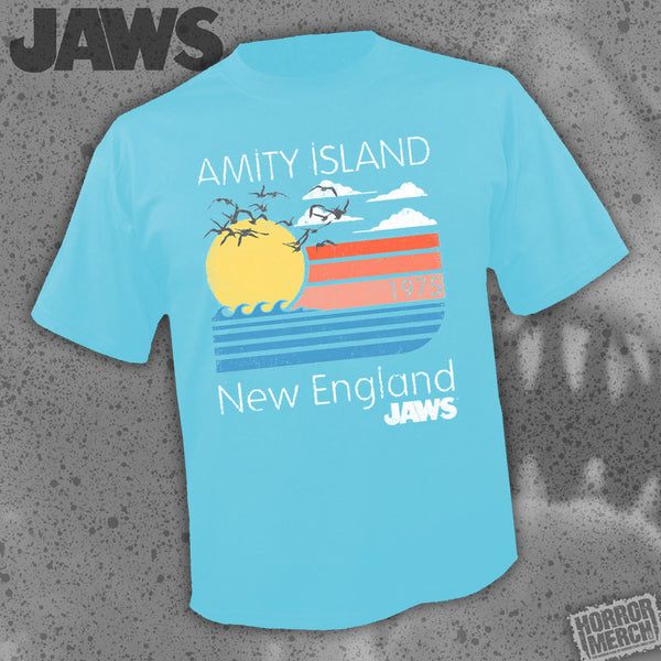 Jaws - Amity Island (Blue) [Mens Shirt] - Pre-Order