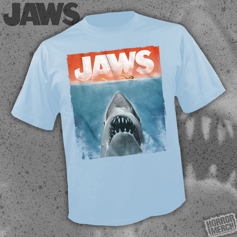 Jaws - Watercolor Poster (Blue) [Mens Shirt] - Pre-Order
