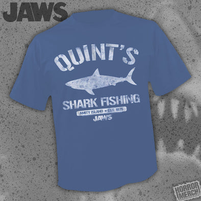 Jaws - Quints Shark Fishing (Navy) [Guys Shirt]