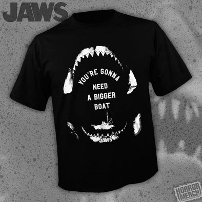 Jaws - Bigger Boat (Black-Teeth) [Guys Shirt]