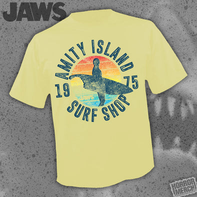 Jaws - Surf Shop (Yellow) [Guys Shirt]