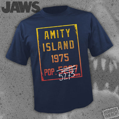 Jaws - Population (Navy) [Guys Shirt]