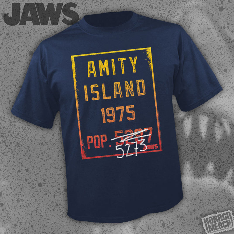 Jaws - Population (Navy) [Mens Shirt] - Pre-Order