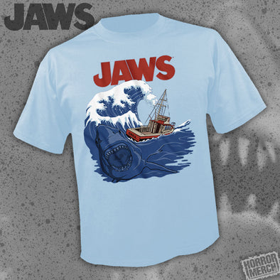 Jaws - Bigger Boat (Light Blue) [Guys Shirt]