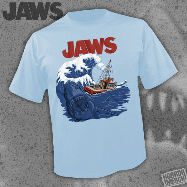 Jaws - Bigger Boat (Light Blue) [Mens Shirt] - Pre-Order
