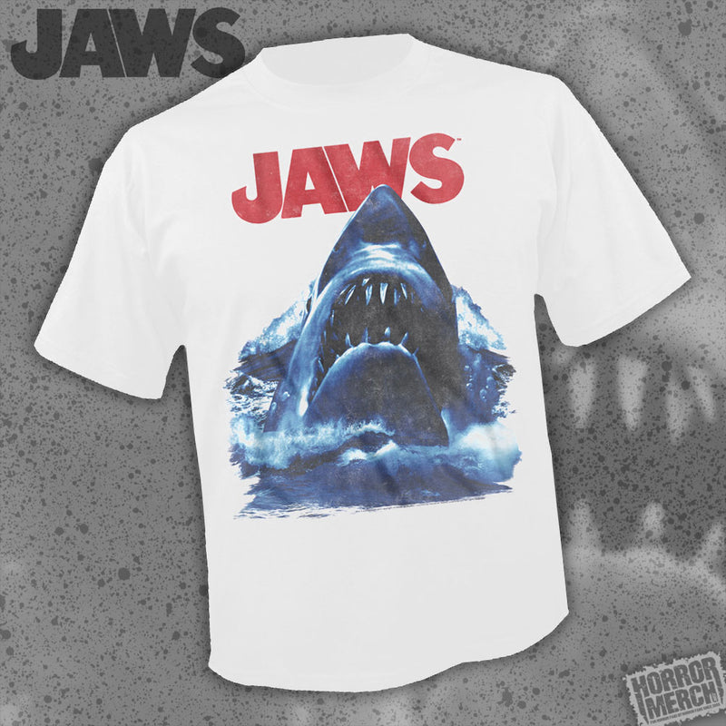 Jaws - Jump (White) [Mens Shirt] - Pre-Order