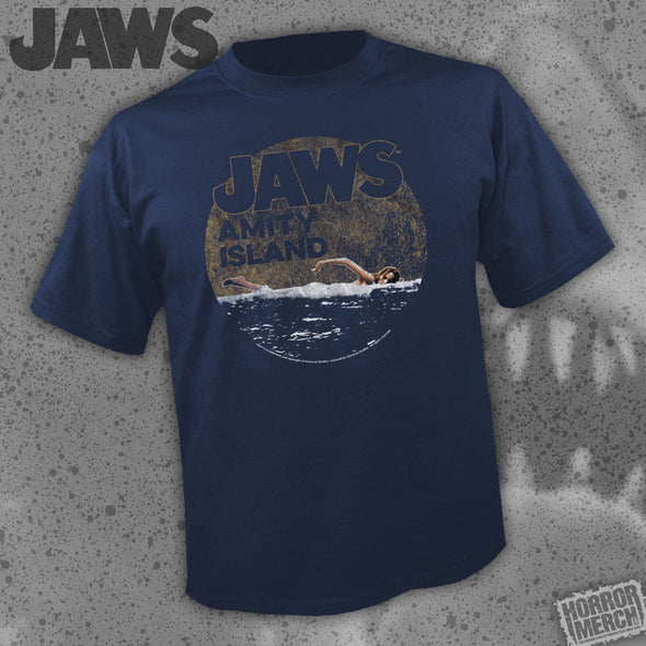 Jaws - Amity Swimmer (Navy) [Guys Shirt]